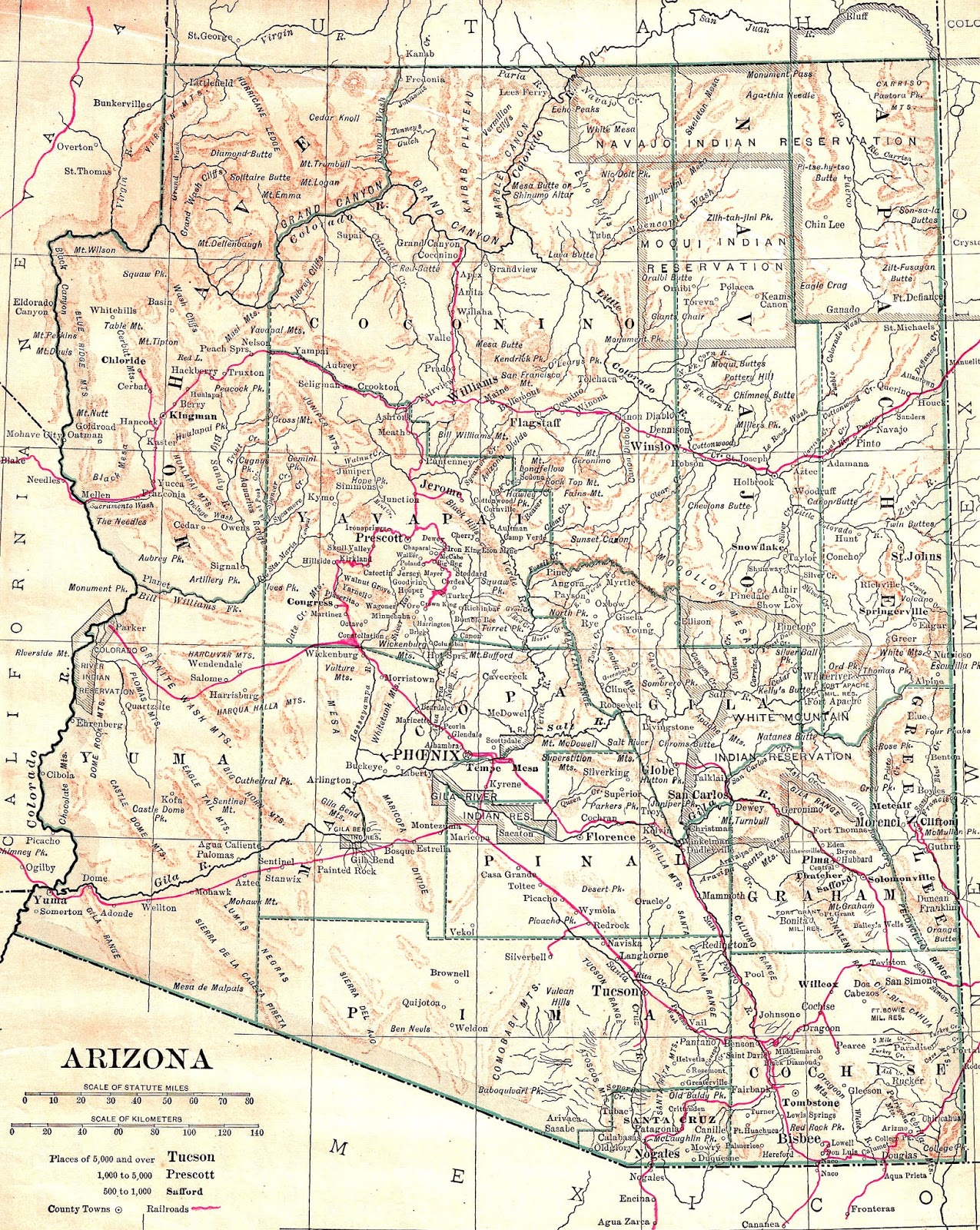 photo about Printable Arizona Map called Antique Shots: Printable Antique Map Totally free Graphic United