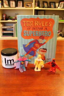 Activity Idea for TEN RULES OF BEING A SUPERHERO by Deb Pilutti via www.happybirthdayauthor.com