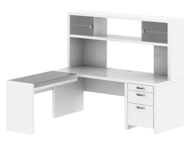 best modern white home office desk pics with hutch