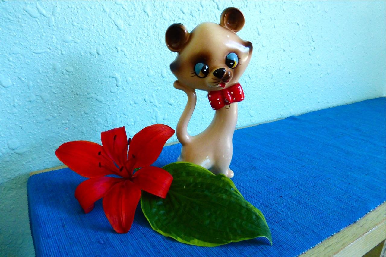 Ries Japan, Hand Decorated, kawaii, Ries figurine, cute, Made in Japan
