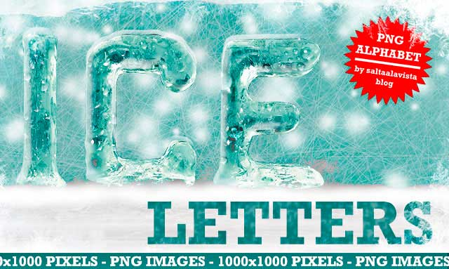Free & Complete Ice Alphabet - PNG Images