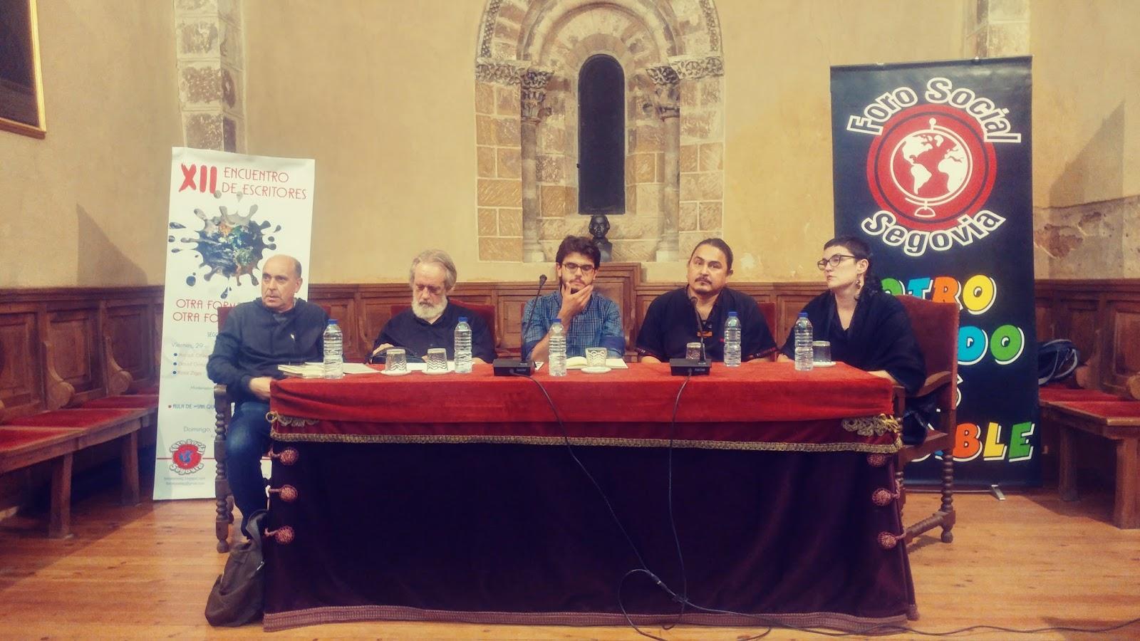 FORO SOCIAL SEGOVIA: Segunda Jornada del XII Encuentro de Escritores ...