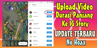 Cara Upload Video Durasi Panjang Ke Instagram Story Tanpa Aplikasi
