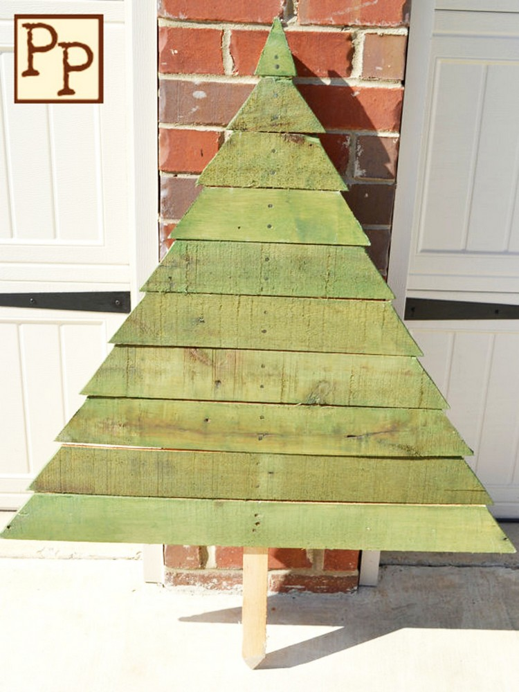 25 Ideas Of How To Make A Wood Pallet Christmas Tree ...