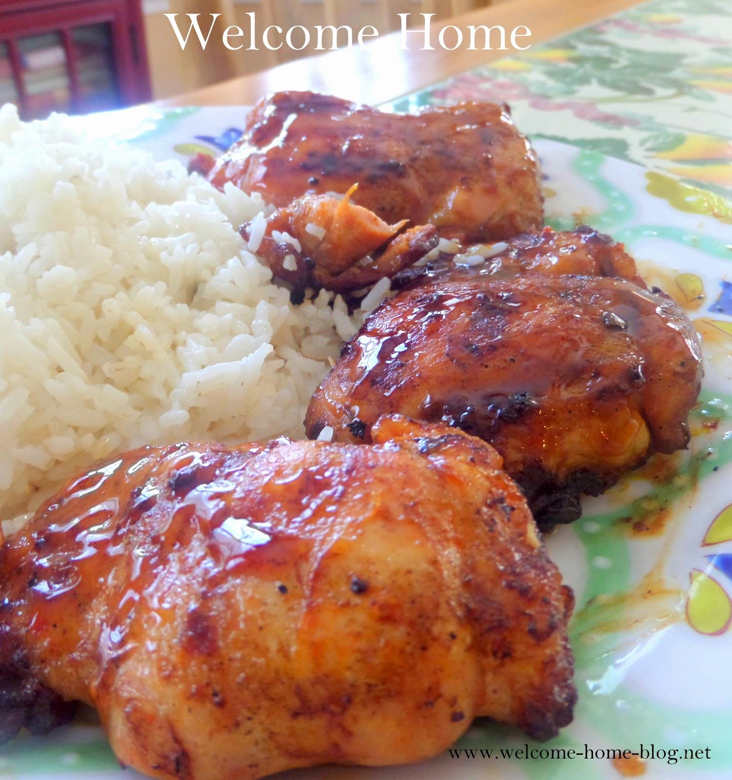 Welcome Home Blog: Grilled Chicken Thighs In Zesty Orange