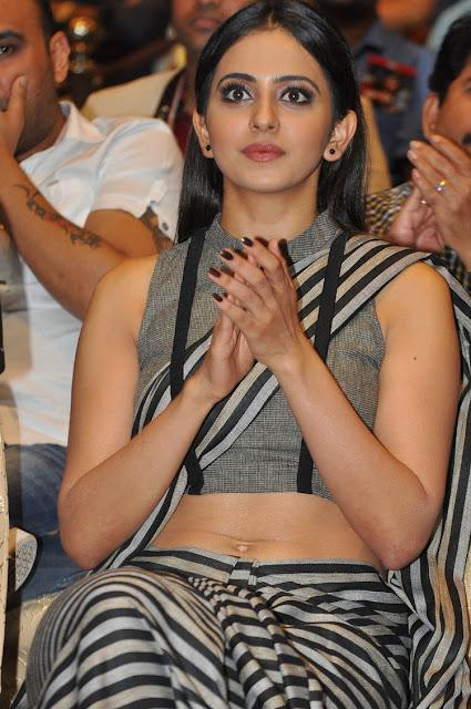 Rakul Preet Singh Hot at Abhinetri Movie Audio Launch HD Stills