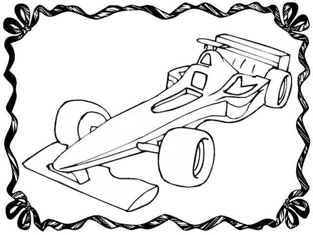 Racing Car Coloring Pages To Print