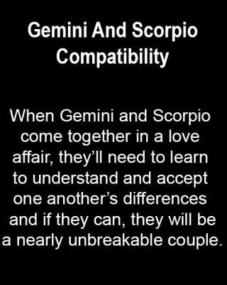 gemini and scorpio love match The love life of gemini, who do they belong with and who annoys them most compatibility reports on gemini's partnership, sexuality and love.