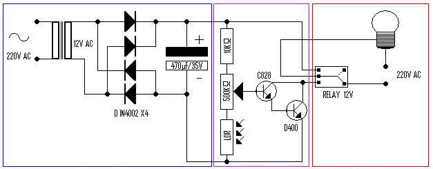 Basic Automatic Day-Night Lamp with LDR - Power Amplifier