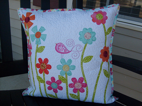 Flower Garden Pillow  Designed by Kellie Wulfsohn of Don't Look Now