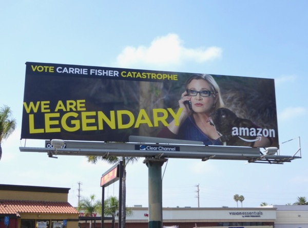 Carrie Fisher Catastrophe Emmy billboard