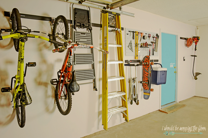 Garage Organization Tips and Ideas | Tackle your messiest space in one weekend with these ideas.
