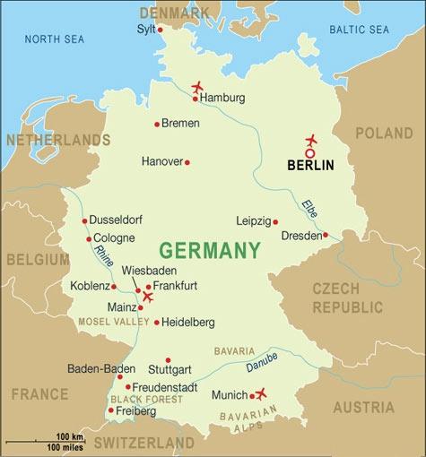 Kort Over Europa Billede Kort Over Tysk Land
