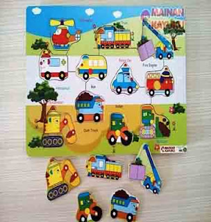 Puzzle Transportasi Double