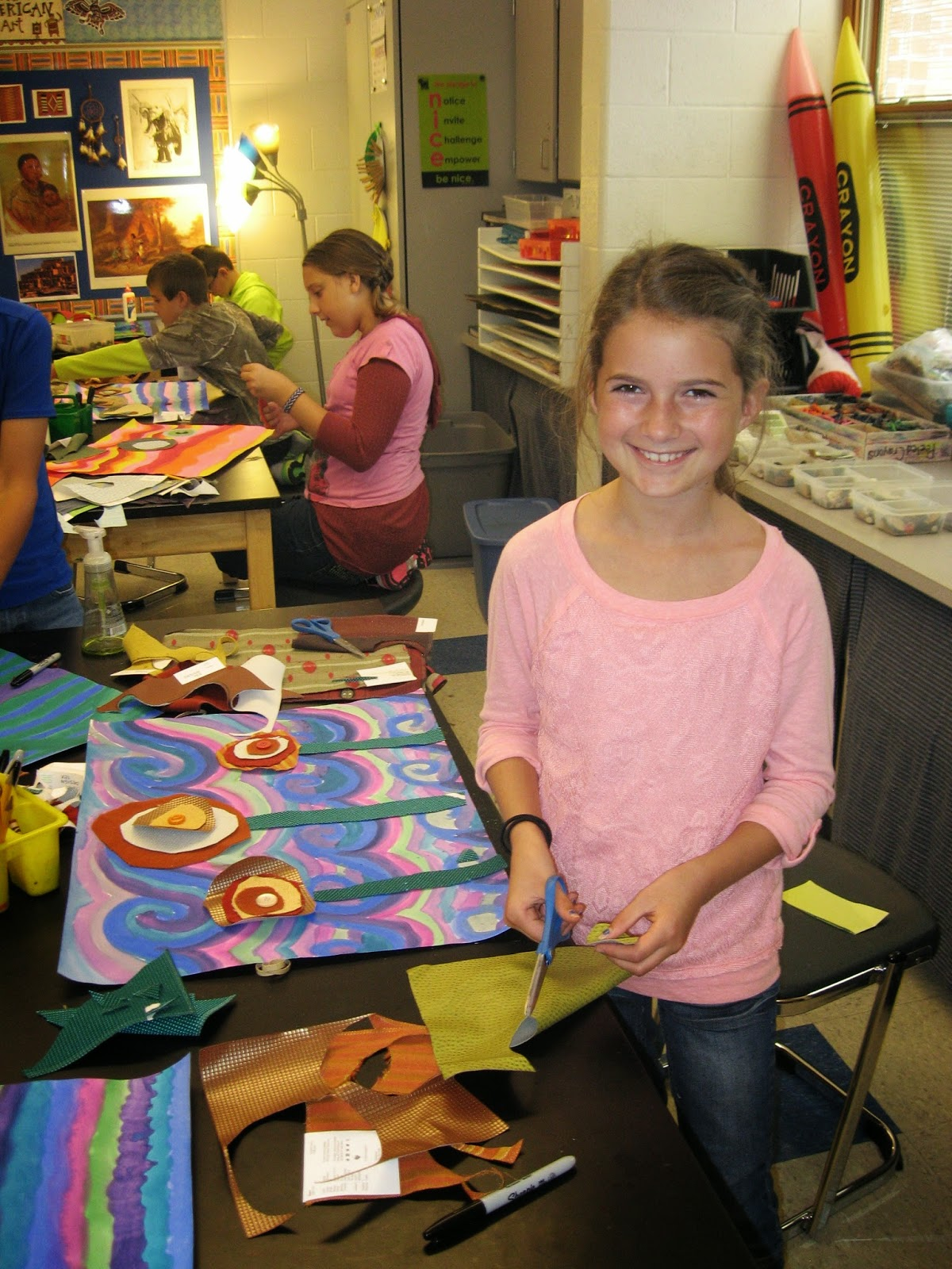 Jamestown Elementary Art Blog 5th Grade Hundertwasser Lollipop Trees