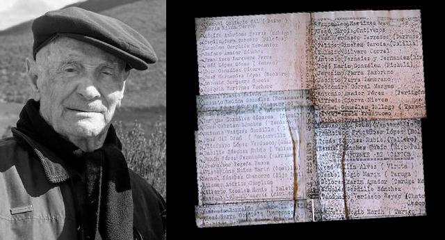 Durante 40 años guardó la lista de sus amigos asesinados por las tropas franquistas