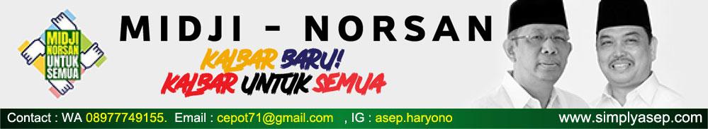 Pilih Nomoe 3 MISJI NORSAN untuk Gubenur dan Wakil Gubernur Kalbar