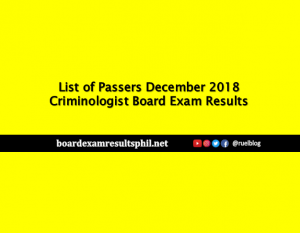 Prc Board Exam Top Passers December 2018 Criminologist Board Exam