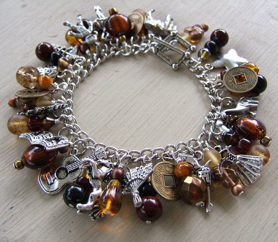 New Charm Bracelets: The Quilt List: Shiny New Browncoat Charm Bracelet
