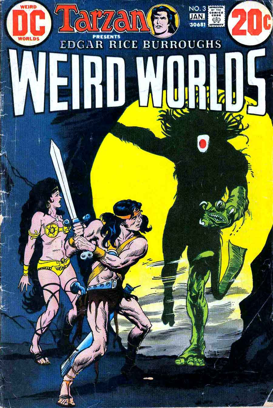 Weird Worlds #3 bronze age 1970s science fiction dc comic book cover