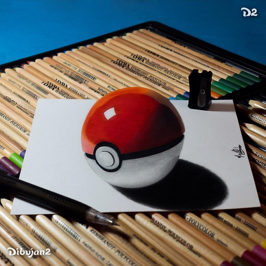 12-Pokebola-Miguel-Brito-3D-Illusions-with-Drawings-and-Illustration-www-designstack-co