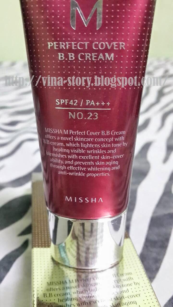 Vina Story : MISSHA PERFECT COVER BB CREAM SPF 42+++ (NO ...