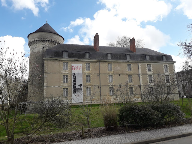 Side elevation of Chateau de Tours in the Loire Valley in France