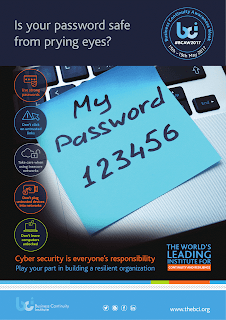 cybersecurity awareness poster: password sticky note