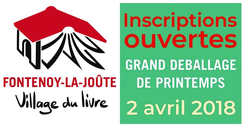 Grand Déballage de livres à Fontenoy-la-Joûte