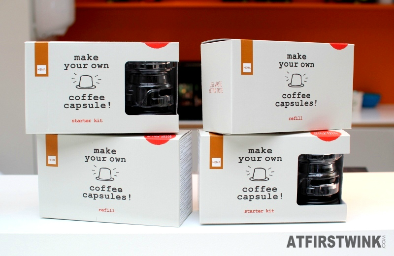 HEMA make your own coffee capsules starter kit and refill box