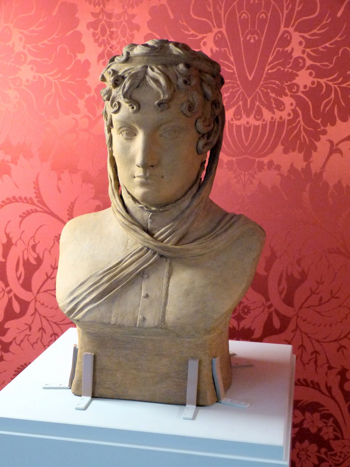 Portrait bust of Princess Caroline  of Wales by Anne Damer (1814)