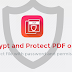 Encrypt and Protect PDF online, So it can't be removed