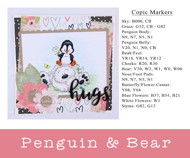 Heather's Hobbie Haven - Penguin and Bear Card Kit