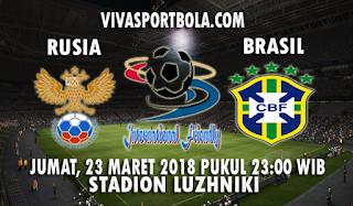 Prediksi Rusia vs Brasil 23 Maret 2018