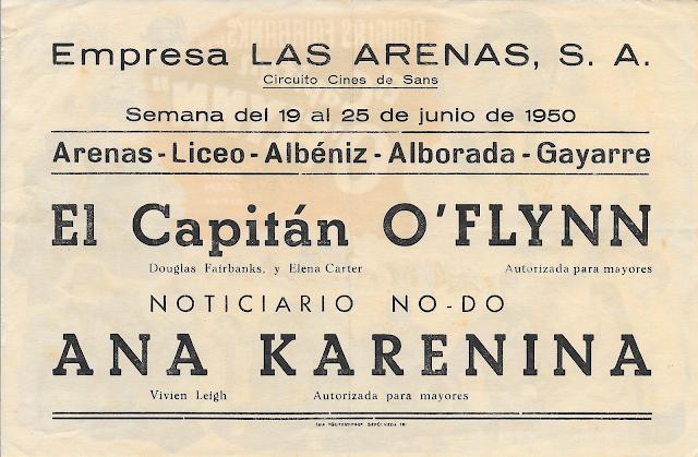 Programa de Cine - El Capitán O'Flynn - Douglas Fairbanks Jr. - Helena Carter