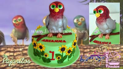 tarta personalizada de fondant canción de los pajaritos arianna cumpleaños laia's cupcakes puerto sagunto