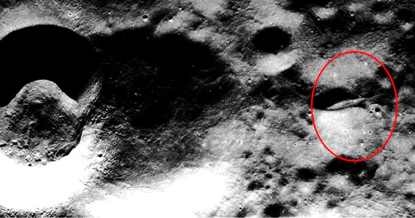 Supuesta nave gigantesca explorada durante la misión Apollo 20.