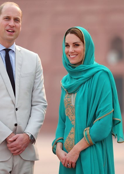 The Duke and Duchess visited the SOS Children's Villages Pakistan and Badshahi Mosque within the Walled City in Lahore