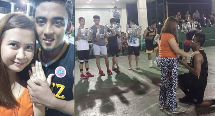 This 'injured' player turns a basketball game to a surprise wedding proposal