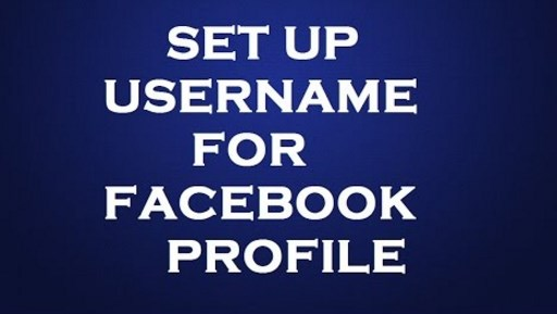 how to setup a facebook username