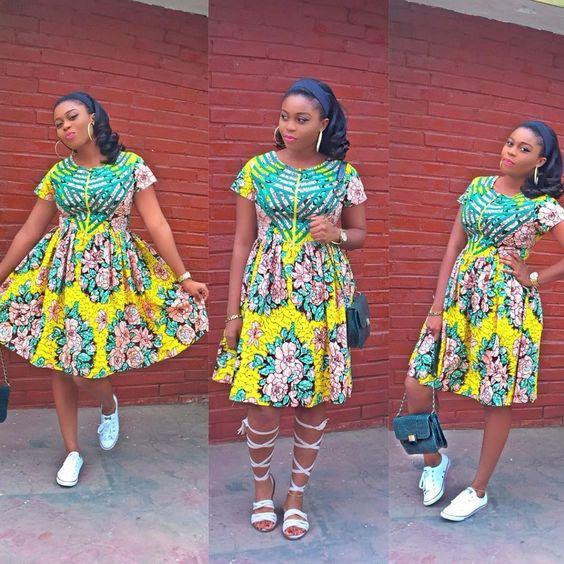 Flair short dress styles
