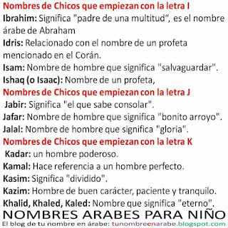 nombres arabes latinos