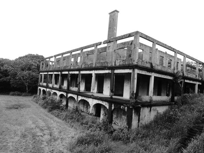 The hospital ruins at Corregidor Island