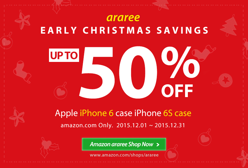 Early Christmas Savings up to 50% OFF iPhone 6/6S Case amazon.com Only