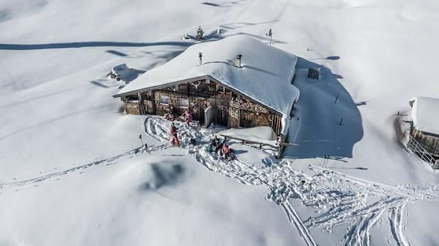 Schneelage Kitzbüheler Alpen