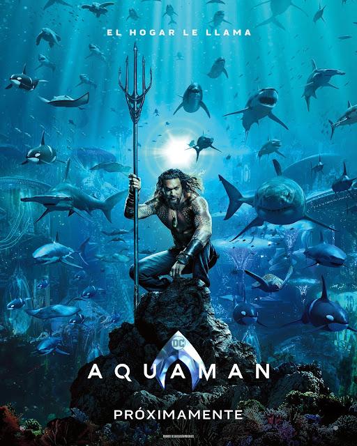 Warner Bros ha mostrado el primer póster oficial  de la película de Aquaman.