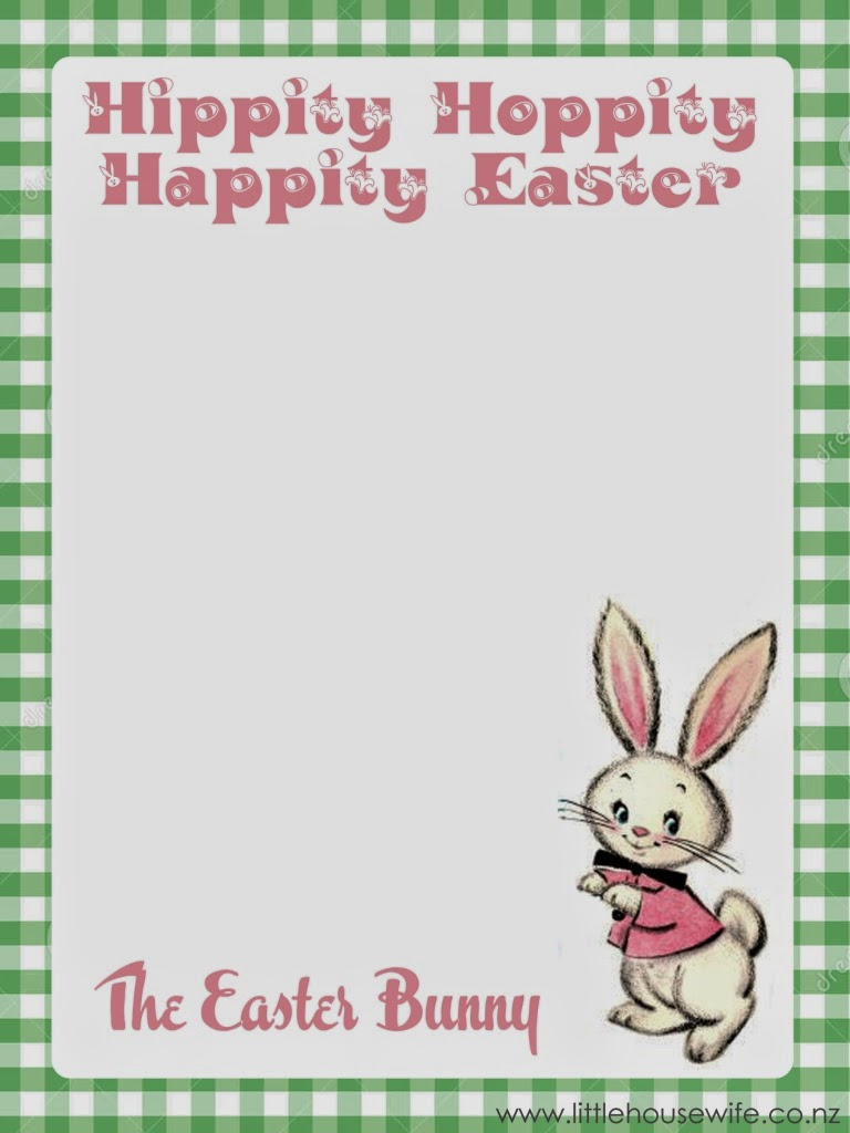 photo about Easter Bunny Letterhead named letter towards the easter bunny