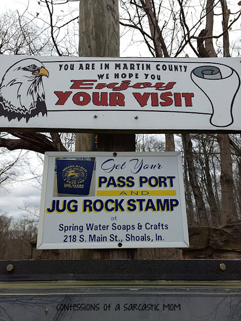 The Jug Rock in Shoals, IN