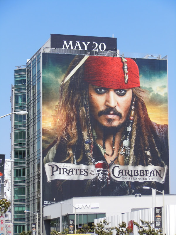 Johnny Depp Jack Sparrow Pirates 4 billboard