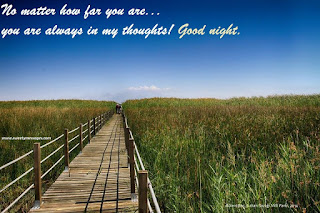 No matter how far you are... you are always in my thoughts! Good night.